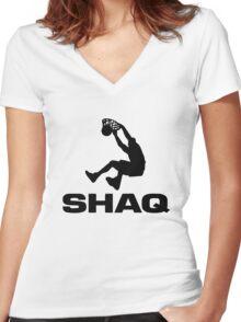 Shaquille Rashaun O'Neal Women's Fitted V-Neck T-Shirt