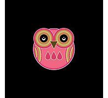 Pink Owl Photographic Print