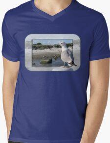Gull on the Outside ~ Looking Back Mens V-Neck T-Shirt