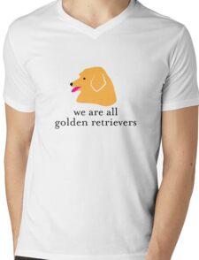 We are all Golden Retrievers Mens V-Neck T-Shirt