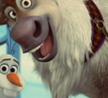 frozen Olaf and Sven Sticker