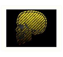 Warning Skull Art Print