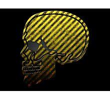 Warning Skull Photographic Print