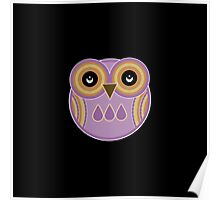 Purple Owl Poster