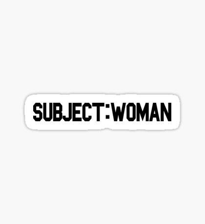 Subject: Woman Sticker