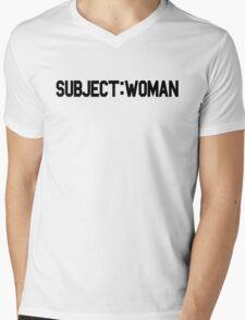 Subject: Woman Mens V-Neck T-Shirt