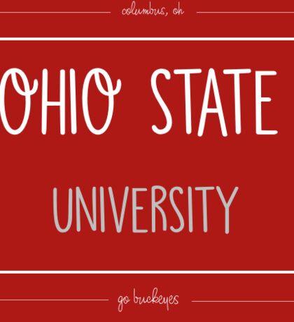 Ohio State Stamp  Sticker