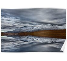 Scottish Mountain Reflections in Winter Poster