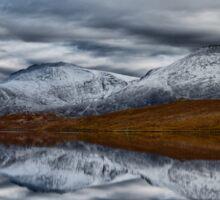 Scottish Mountain Reflections in Winter Sticker