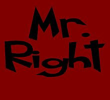 Mr.Right  Throw Pillows by incetelso