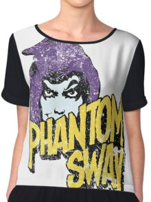 Phantom Sway Grunge Logo Chiffon Top
