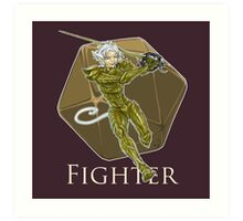 Dungeons and Dragons Fighter Art Print