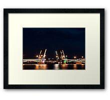 Bridge at night Framed Print
