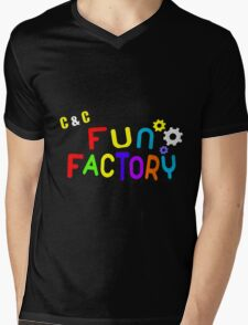 FUN FACTORY Mens V-Neck T-Shirt