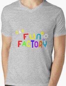 FUN FACTORY Mens V-Neck T-Shirt