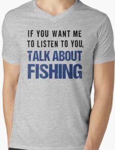 Funny Rude Fishing T Shirt Mens V-Neck T-Shirt