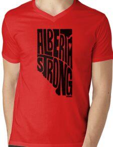 Alberta Strong (Black) Mens V-Neck T-Shirt