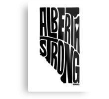 Alberta Strong (Black) Metal Print