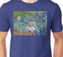 "Vincent van Hog's ""Irises and Also a Hedgehog"" Unisex T-Shirt"