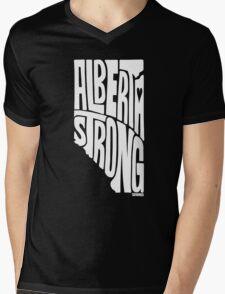 Alberta Strong (White) Mens V-Neck T-Shirt
