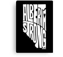 Alberta Strong (White) Canvas Print