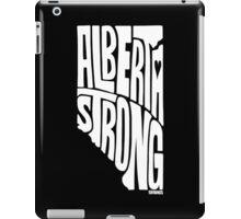 Alberta Strong (White) iPad Case/Skin