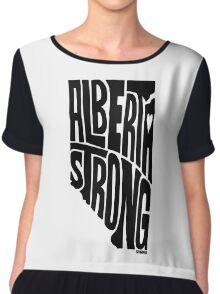 Alberta Strong (Black) Chiffon Top