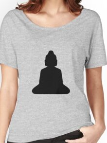 buddha silhouette Women's Relaxed Fit T-Shirt