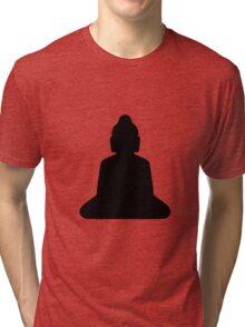 buddha silhouette Tri-blend T-Shirt