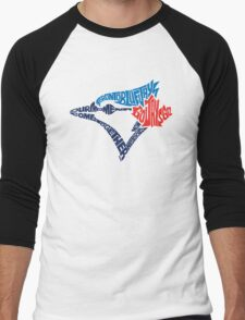 Toronto Blue Jays (Blue) Men's Baseball ¾ T-Shirt