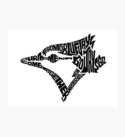 Toronto Blue Jays (black) Photographic Print