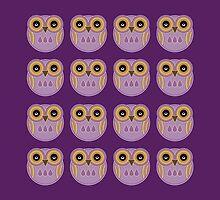 Purple Owls by Louise Parton
