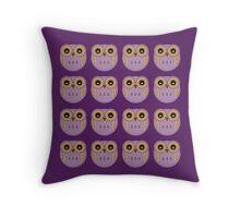 Purple Owls Throw Pillow