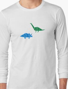 Dinosaur Origami Long Sleeve T-Shirt