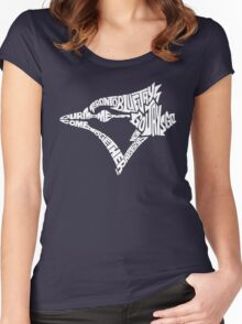 Toronto Blue Jays (white) Women's Fitted Scoop T-Shirt