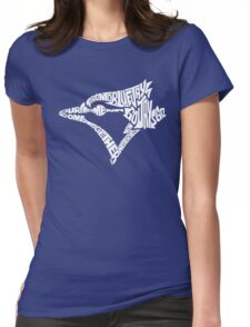 Toronto Blue Jays (white) Womens Fitted T-Shirt