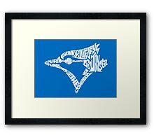 Toronto Blue Jays (white) Framed Print