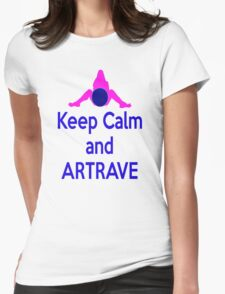 Lady GaGa ArtPop T shirt 1 - Keep Calm and ARTRAVE Womens Fitted T-Shirt