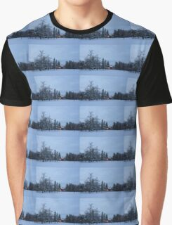 Snow, Stillness and Warm House Lights Graphic T-Shirt