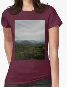 Fog Over El Yunque Womens Fitted T-Shirt