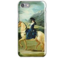 Francisco De Goya  - Portrait Of Maria Teresa De Vallabriga On Horseback. Animal portrait: cute cat, horse, race, man hobby, running, wild life, animal, racing mustang, hunt, cowboy, sport iPhone Case/Skin