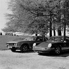 Jensen Interceptor and Porsche 911 by Matthew Walters