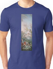 Francois Boucher - Aurora And Cephalus 1769. Lovers portrait: sensual woman, woman and man, kiss, kissing lovers, love relations, lovely couple, family, valentine's day, sexy, romance, female and male Unisex T-Shirt