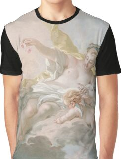 Francois Boucher - Aurora And Cephalus 1769. Lovers portrait: sensual woman, woman and man, kiss, kissing lovers, love relations, lovely couple, family, valentine's day, sexy, romance, female and male Graphic T-Shirt