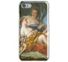 Francois Boucher - Les Confidences Pastorales. Woman portrait: sensual woman, girly art, female style, pretty women, femine, beautiful dress, cute, creativity, love, sexy lady, erotic pose iPhone Case/Skin