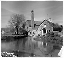 The Old Mill, Lower Slaughter Poster
