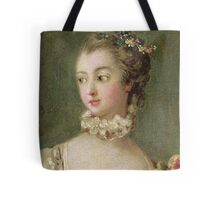 Francois Boucher - Madame De Pompadour (1721-64). Woman portrait: sensual woman, girly art, female style, pretty women, femine, beautiful dress, cute, creativity, love, sexy lady, erotic pose Tote Bag