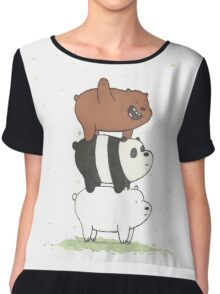We Bare Bears Chiffon Top