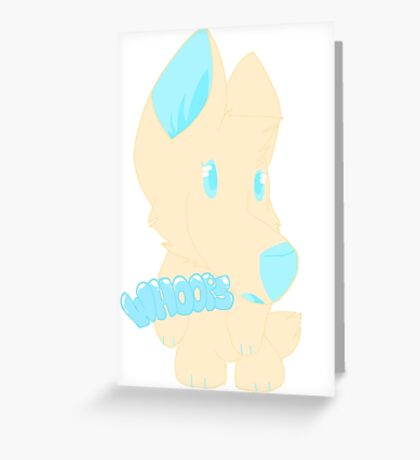 Whoops! (furry) Greeting Card