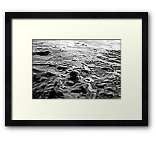 Black and White Ocean Framed Print